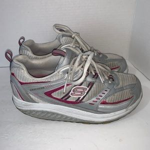 Skechers Fitness shape ups Sz 8.5 leather upper